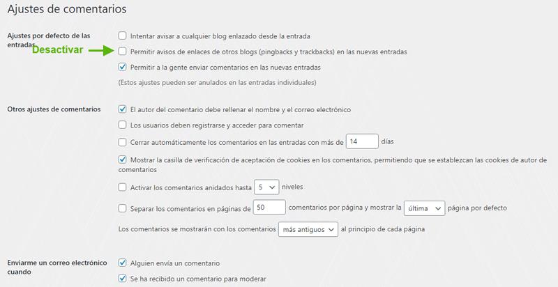 ajustes-comentarios-seguridad-wordpress