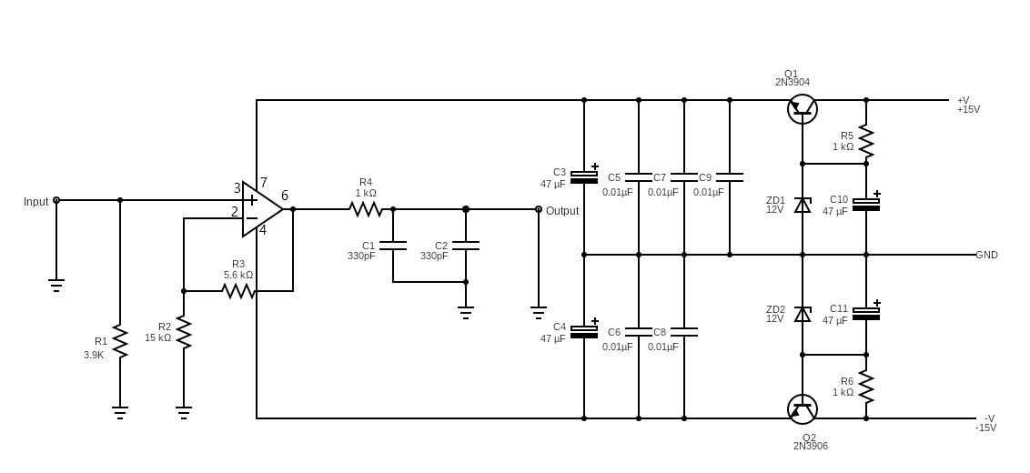 模拟放大器电路图的音频增强