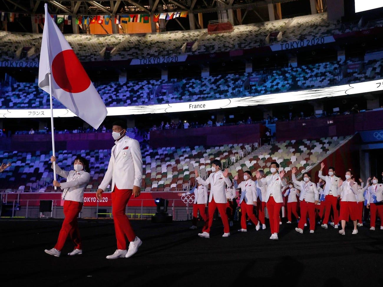 Những  hình ảnh ấn tượng tại lễ khai mạc Olympic Tokyo 2020