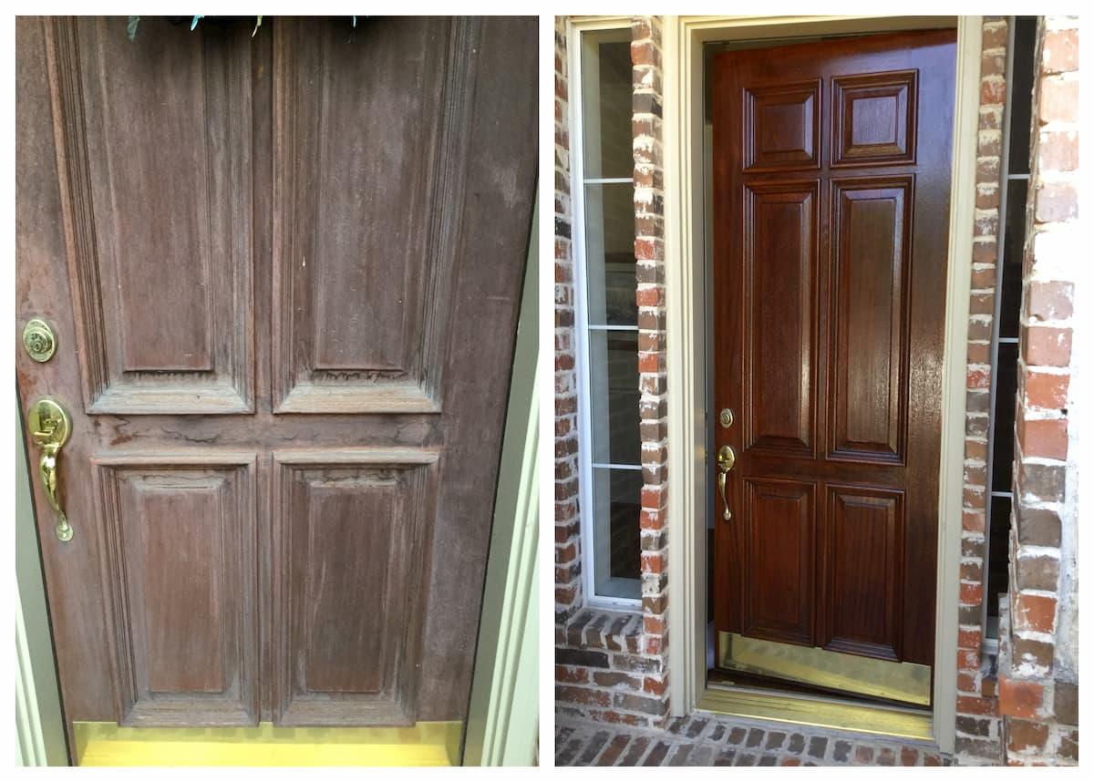 Mr. Handyman front door installation and repair.
