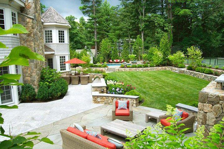 Các thiết kế cảnh quan không thể thiếu đi cây xanh, hoa cỏ