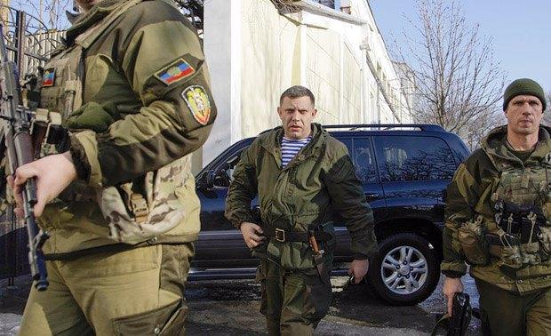 Главарь террористической организации ДНР Александр Захарченко в Донецке, Украина, 15 января 2015 года.