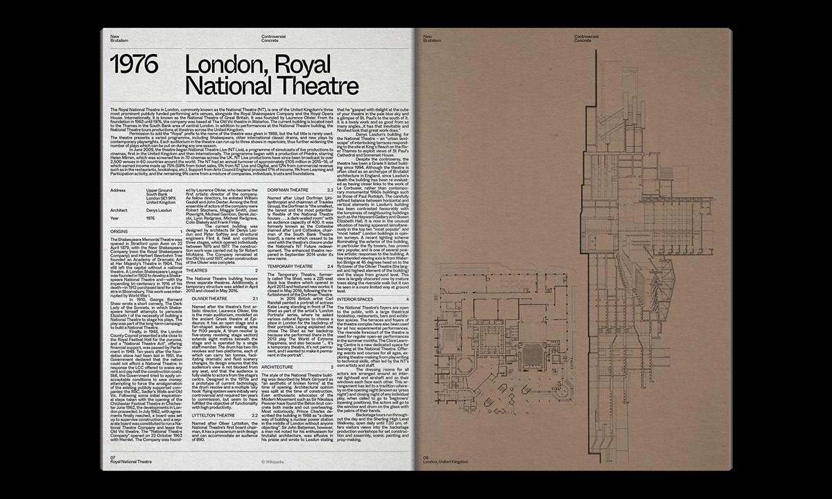 Editorial Design : New Brutalism Controversial Concrete 29