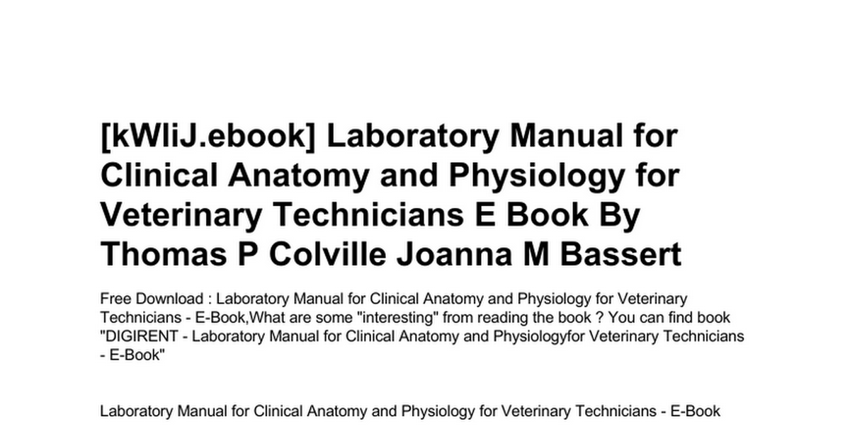 laboratory-manual-for-clinical-anatomy-and-physiology-for-veterinary ...