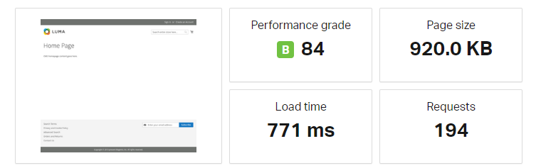 cloudways test result without data