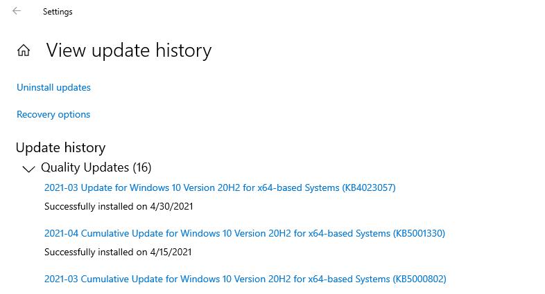 كيف يمكنك إستعادة نظام Windows 10 عبر حذف التحديثات التي تم تثبيتها؟