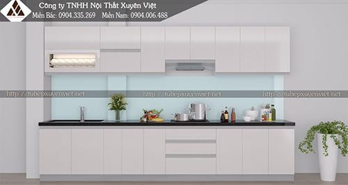 Mẫu tủ bếp đẹp bằng nhựa hình 9