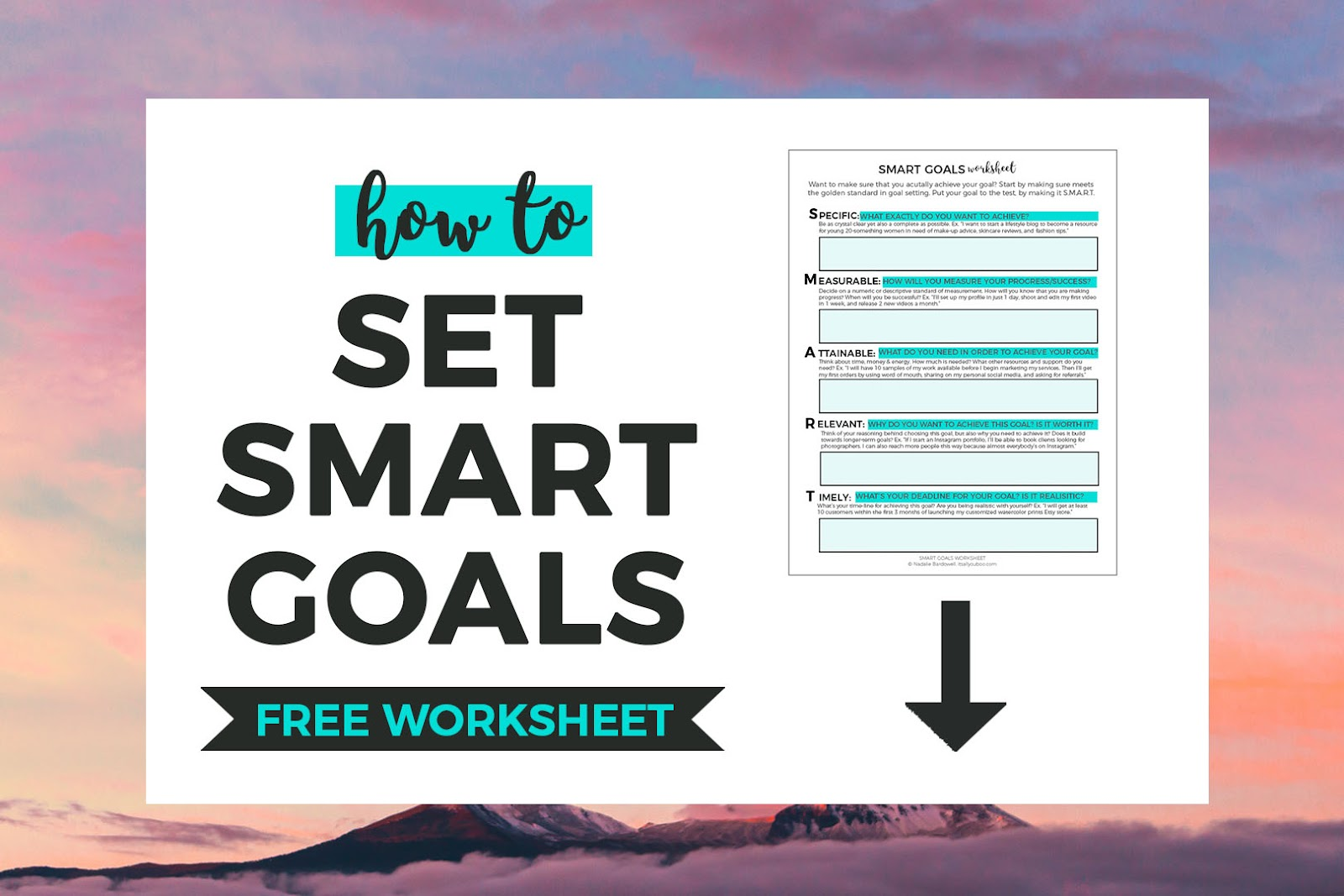 Smart Goal Setting Worksheet Printable