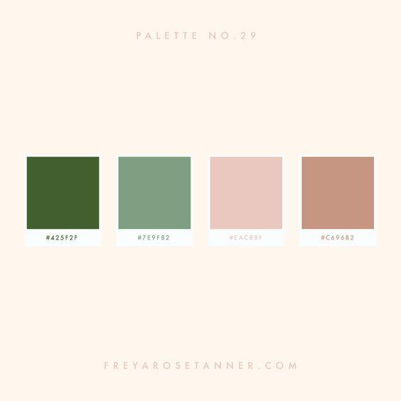Representação de paleta de cores dessaturadas