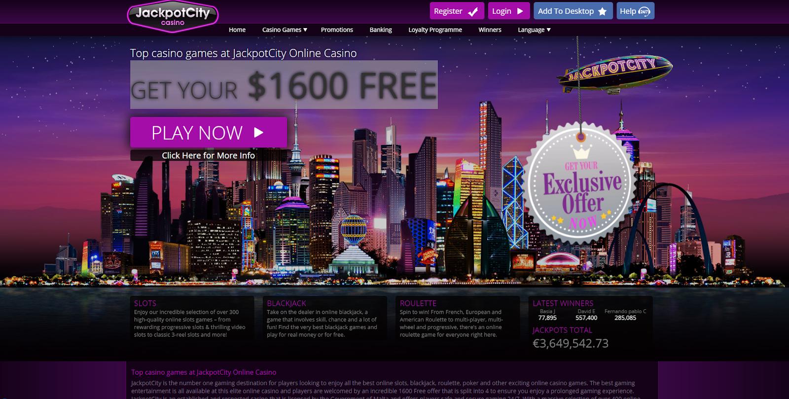 Jackpot-city-Casino-interface