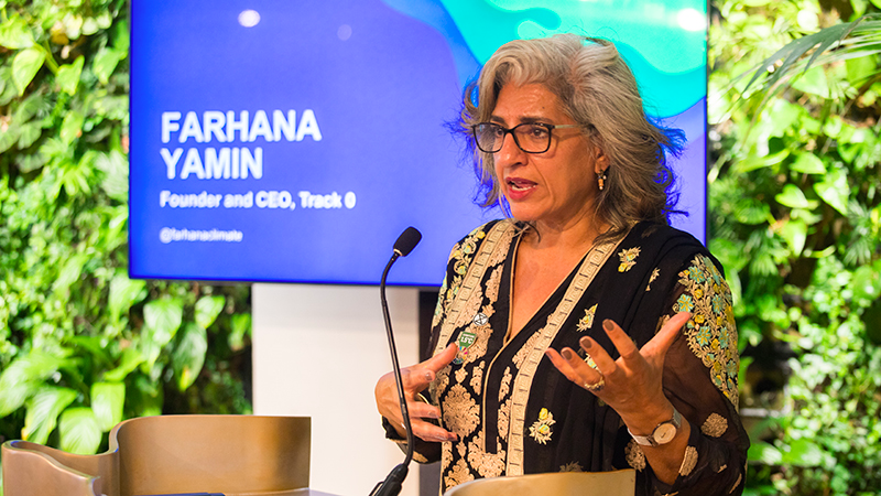 Too late for red tape on climate action, says Farhana Yamin