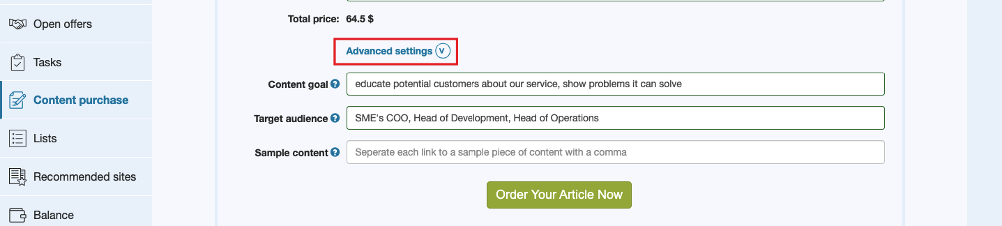 quality article purchase service