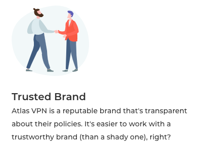 Atlas VPN ranked a trusted brand