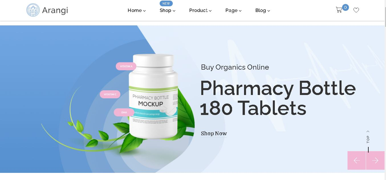 Magento pharmacy theme Arangi