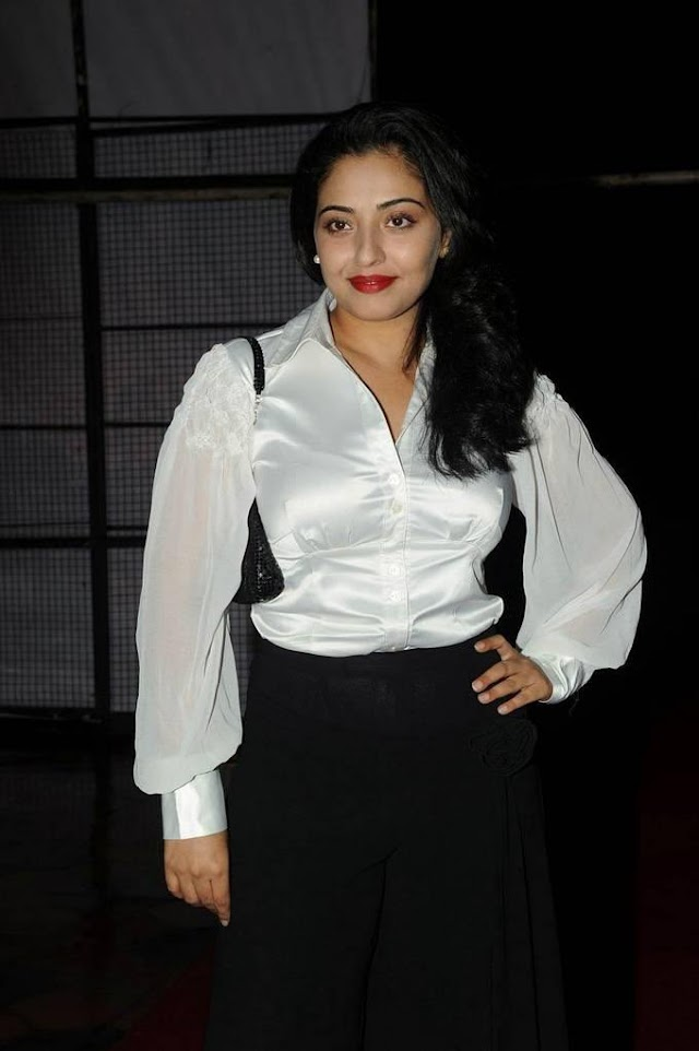 Mumtaj In White Dress At Audio Release Function