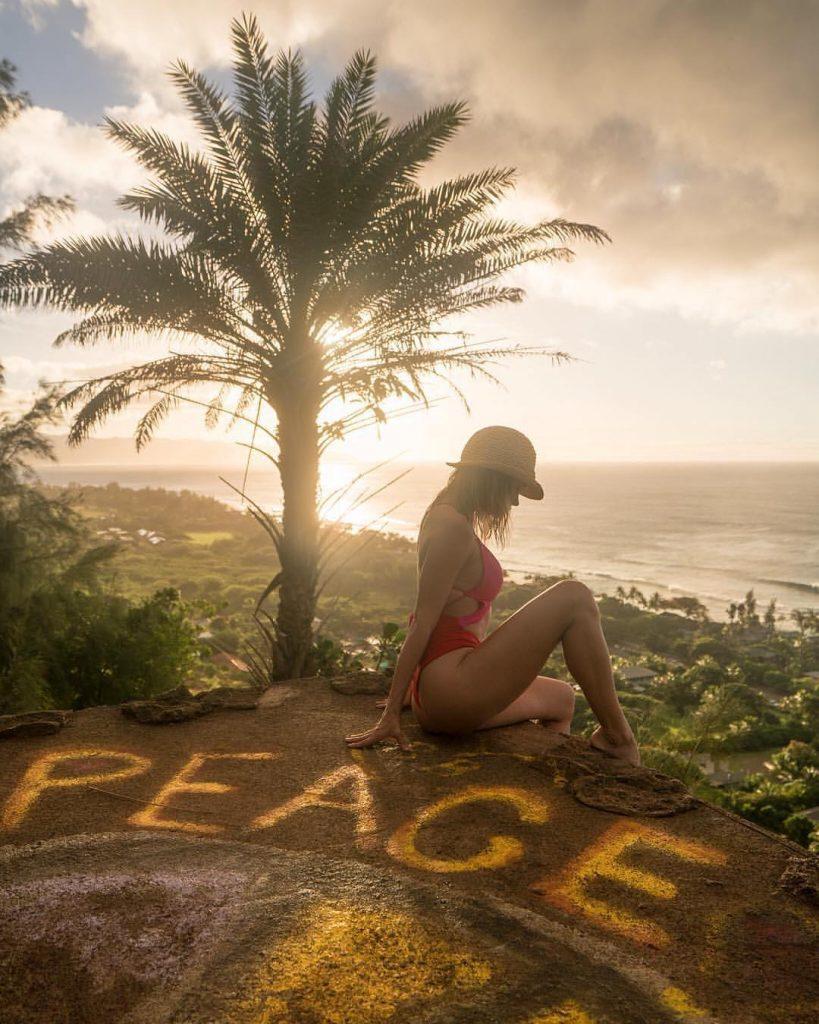 Ehukai Pillbox during sunset - #8 on the 15 Best Hikes on Oahu