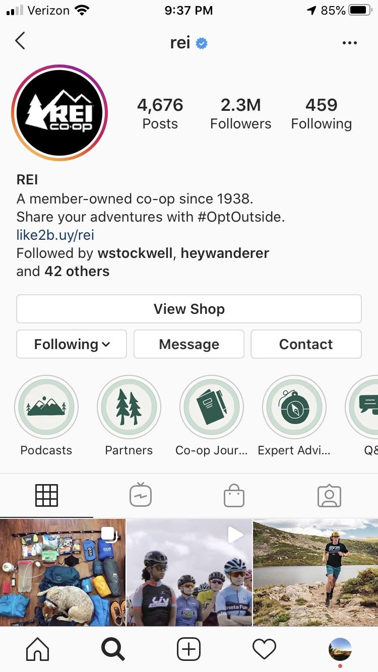 Instagram audit rei