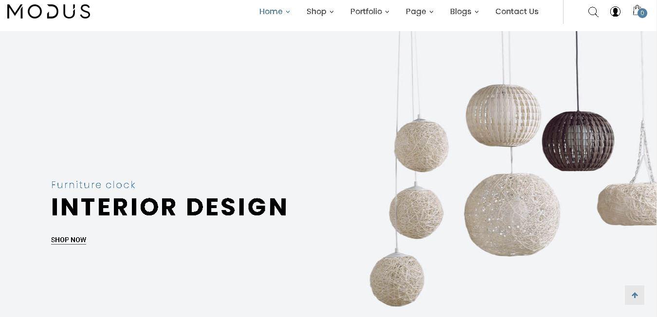 Interior design woocommerce themes modus