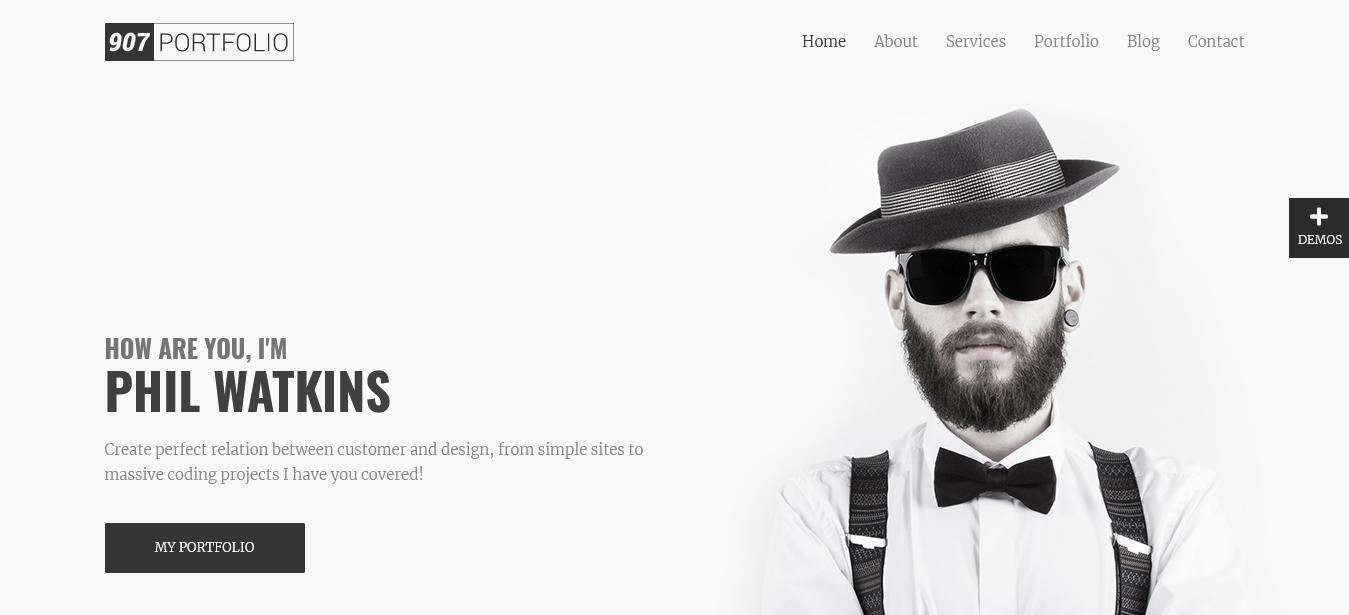 907 WordPress Portfolio Theme