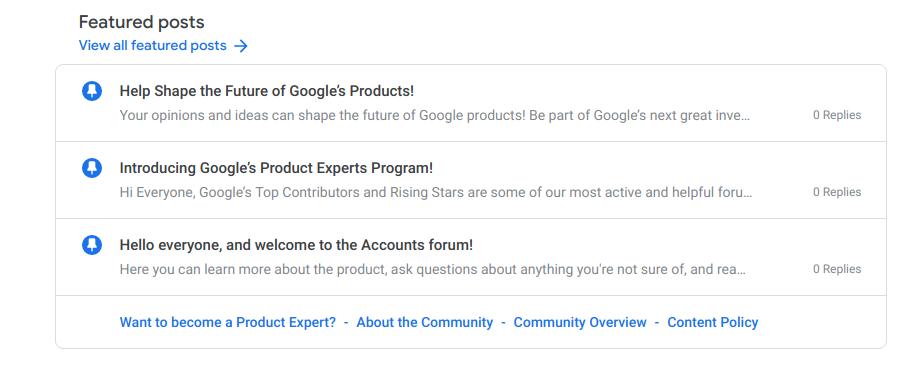 Forum Posting - Best Practices - Google Account Help