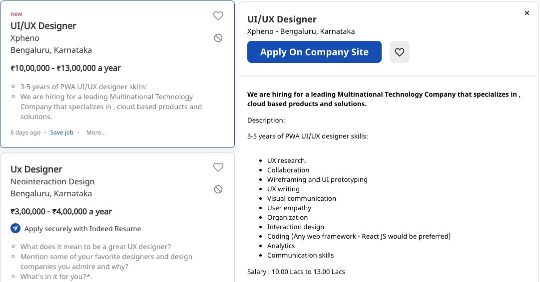 UI/UX Designer Job Description
