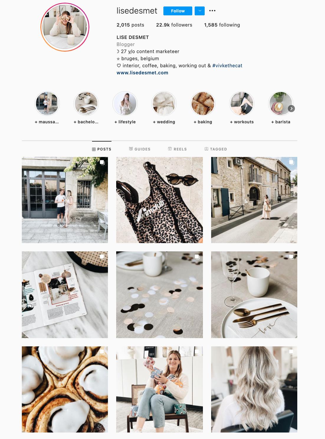 Black and white Instagram Theme Example