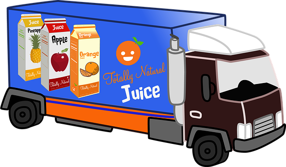 Delivery Truck, Juice, Natural, Diet