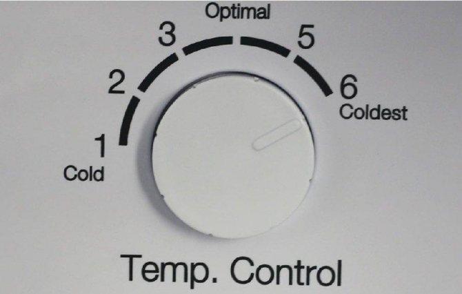 ручка термостата холодильника