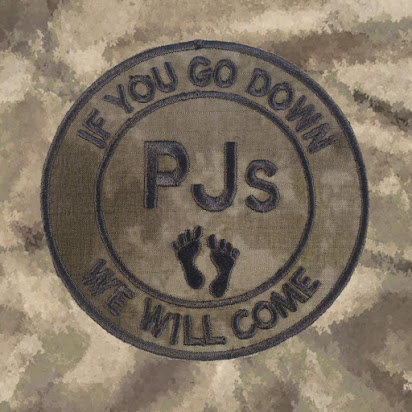 Militaria olive drab PJs pedro IF U GO DOWN WE WILL COME aufnäher hook patch