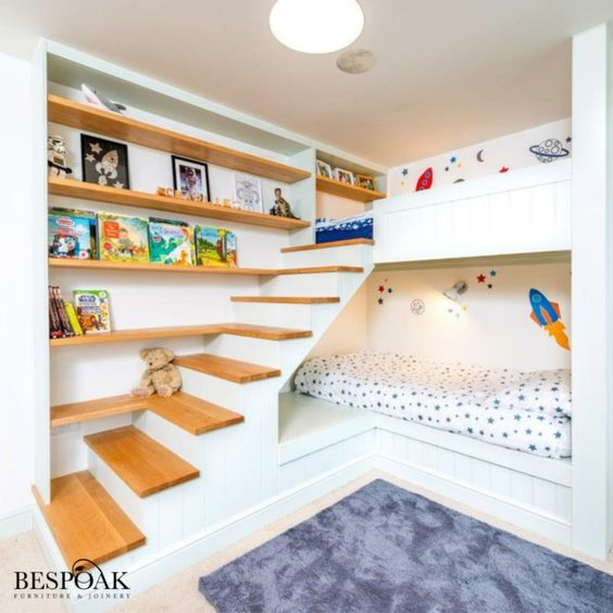 Bunk Bed Combines with A Display Spot