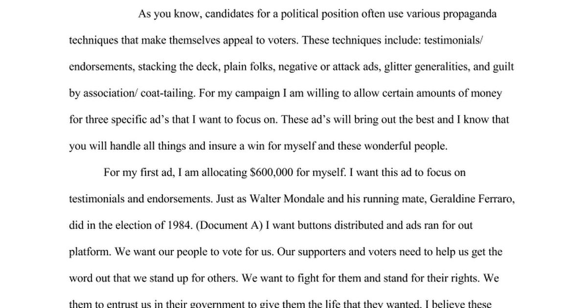 propaganda essay