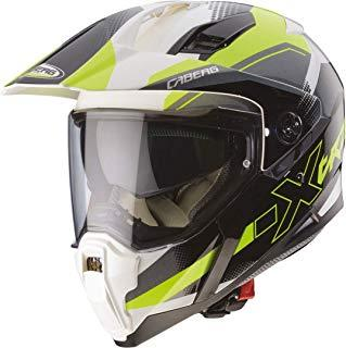 Caberg X-Trace Chispa Matt Negro FLO Grito Motocicleta Casco Tamano L