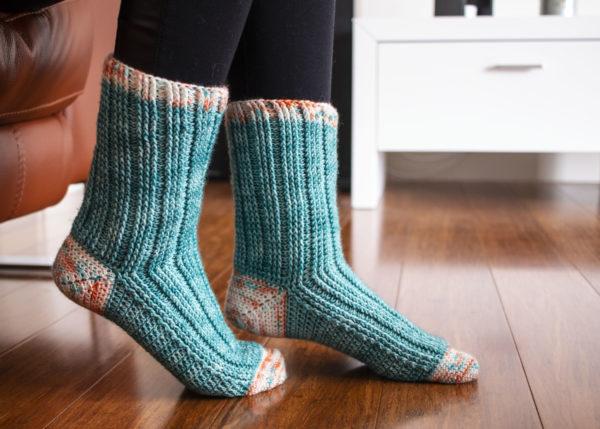 crochet Christmas gift idea - socks