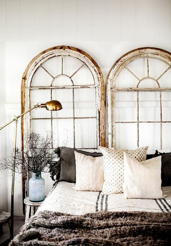 Repurpose the Old Doors to Make A New Headboard