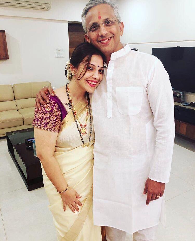 shilpa tulaskar with her husband