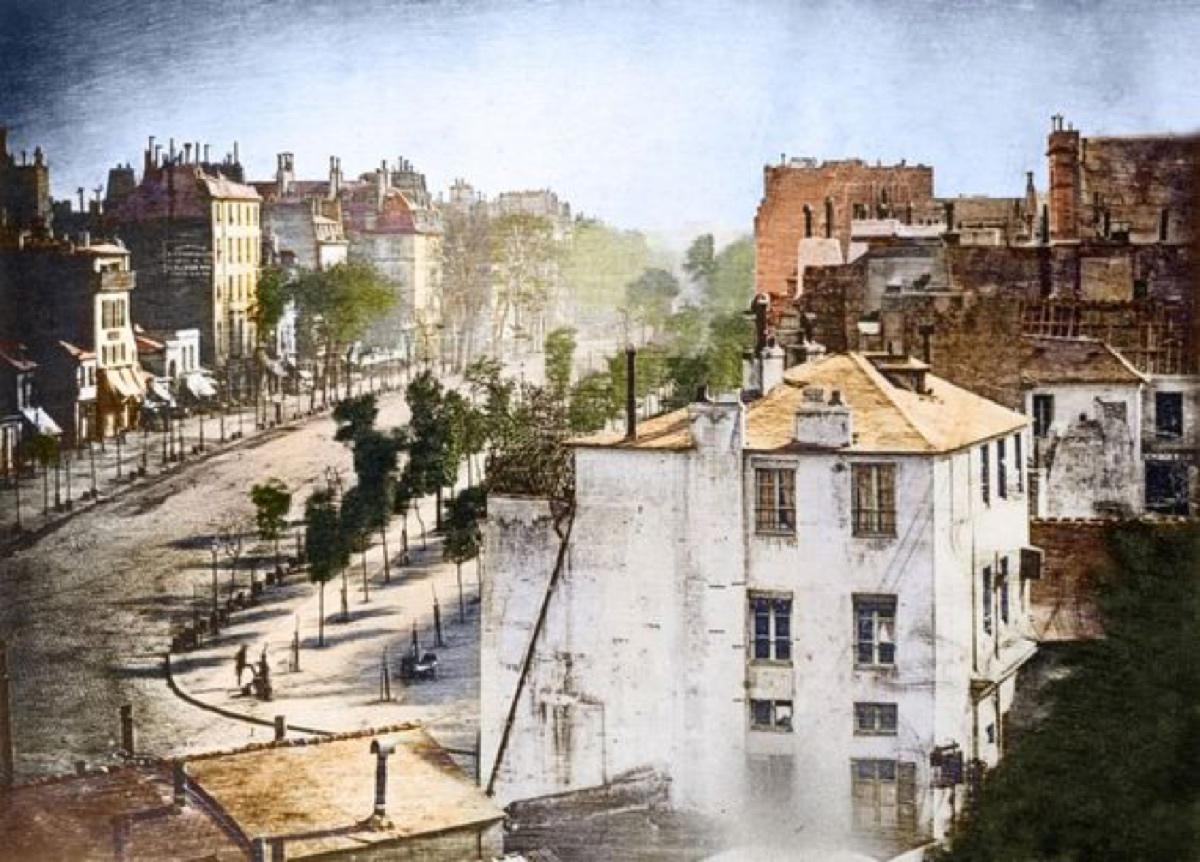 Louis Daguerre's Colorized photograph