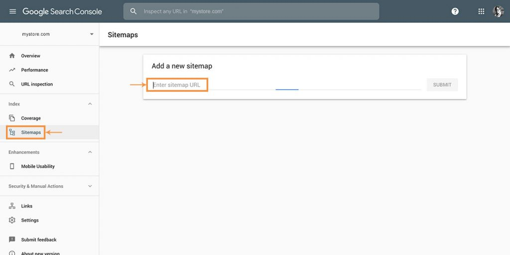 Shopify SEO Checklist Step 1: Submitting a Sitemap to Google Search Console