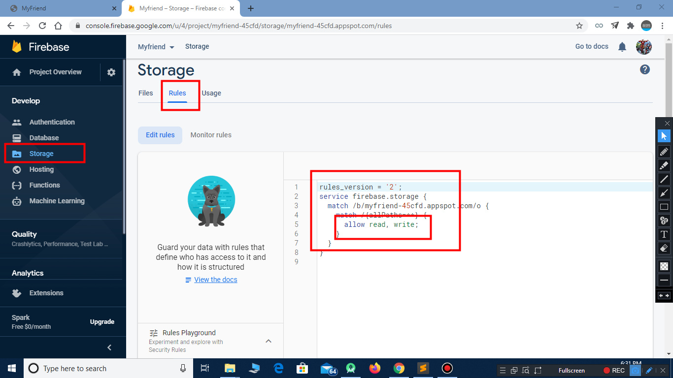 How to configure firebase with app