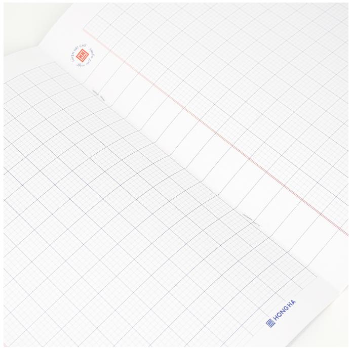 Mẫu giấy vở 5 ô ly (2.5*2.5)mm; 80 trang School Dear Friend
