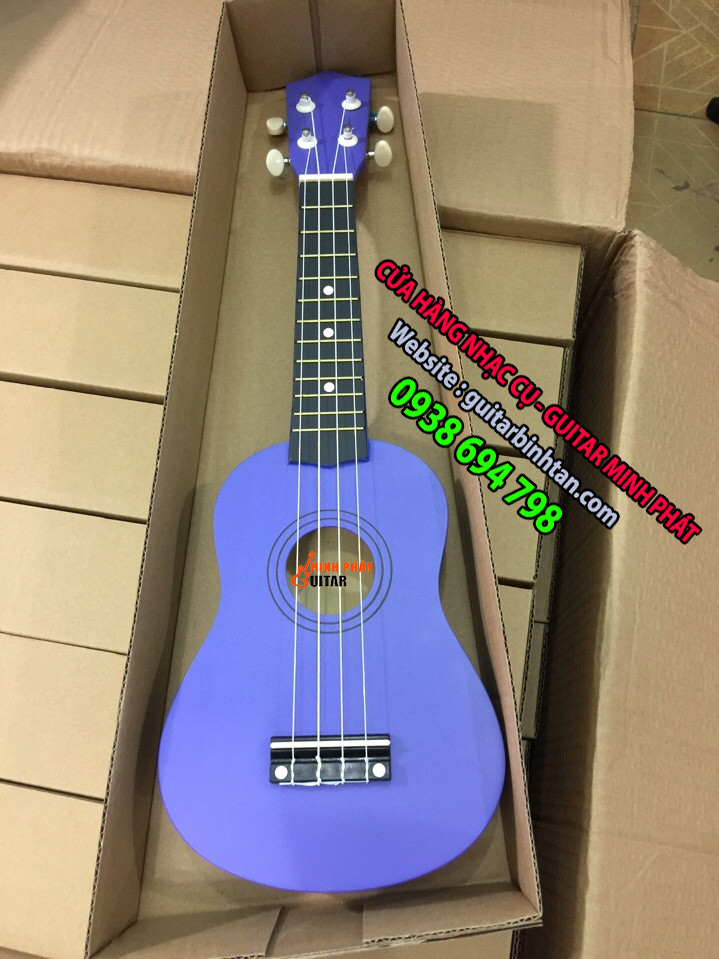 Đàn ukulele màu xanh