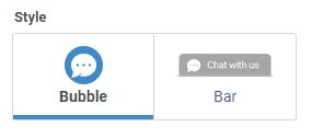 Look how chat icon will look on your website