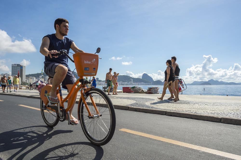 Cariocas terão 500 bicicletas elétricas para compartilhamento. (Fonte: Shutterstock)