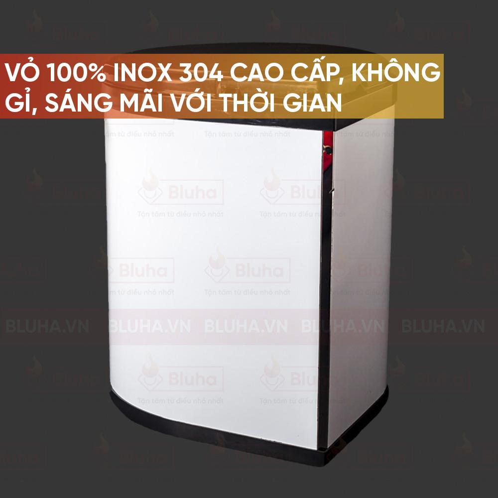 Vỏ 100% INOX 304 cao cấp, không gỉ, sãng mãi với thời gian - Thùng rác 14l Eurogold EO.103 - Phụ kiện bếp chính hãng