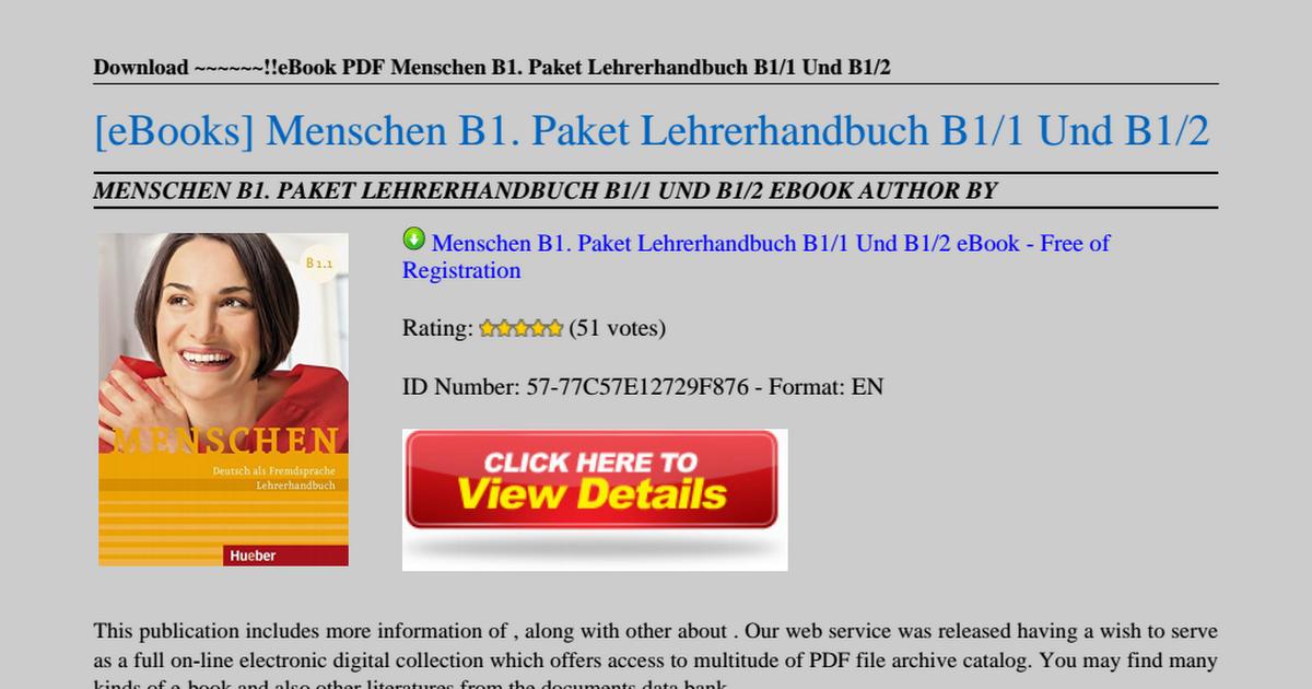 Menschen b1 deutsch fremdsprache kursbuch download image collections menschen b1 paket lehrerhandbuch b1 1 und b1 2pdf google drive gazduireweb image collections fandeluxe Gallery