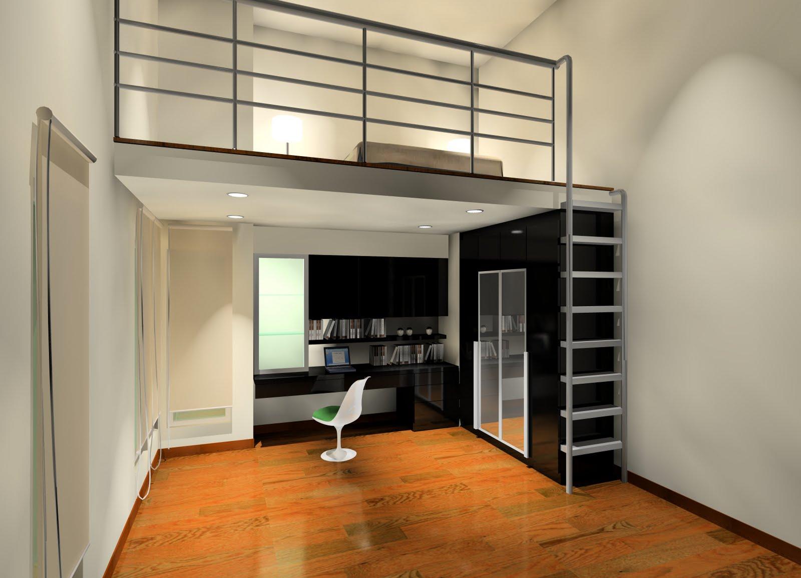 Phòng ngủ trên bếp 5
