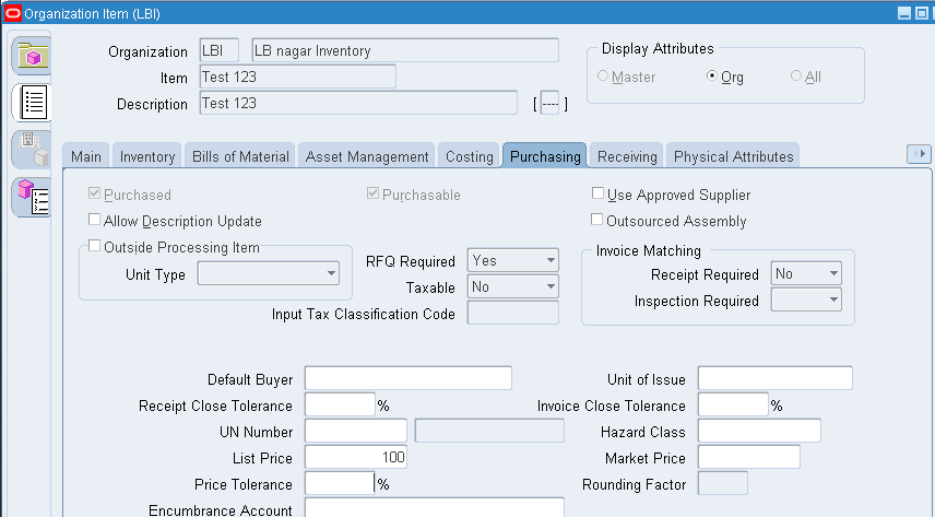 ORACLE MASTERMINDS Price Tolerance Percentage And Price Tolerance - Check invoice price