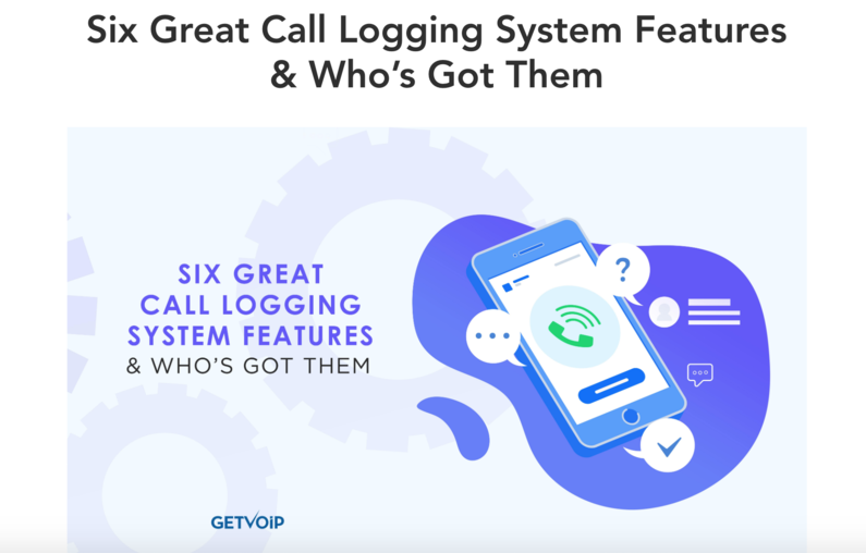 Call logging systems screenshot