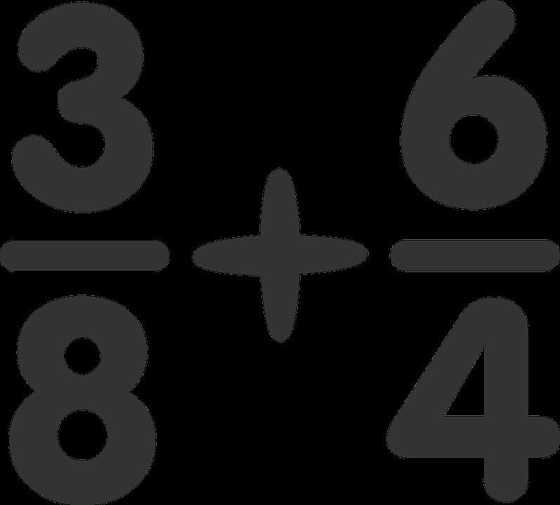 Addition, Fractions, Numerator, Denominator, Plus