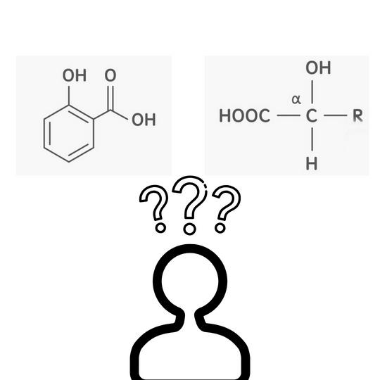 選擇酸類溫和的成分