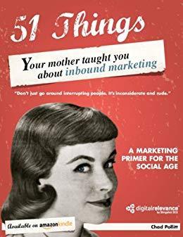 Imagen que contiene portada de libro 51 things your mother taught you about inbound marketing